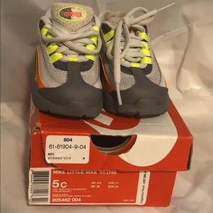 Nike Little Air Max '95 (TD) Size 5C With Box